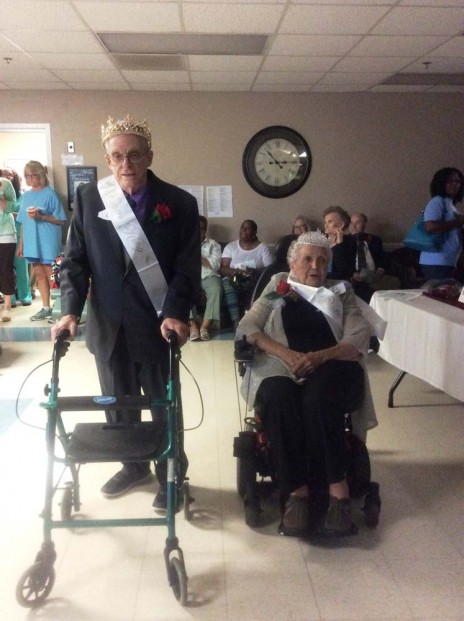 The Prom King and Prom Queen of Heritage Health Care & Rehab's prom